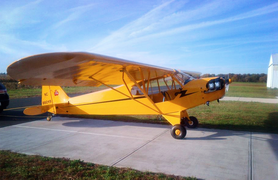 The Rosman 1946 Piper J3-C65 Cub.