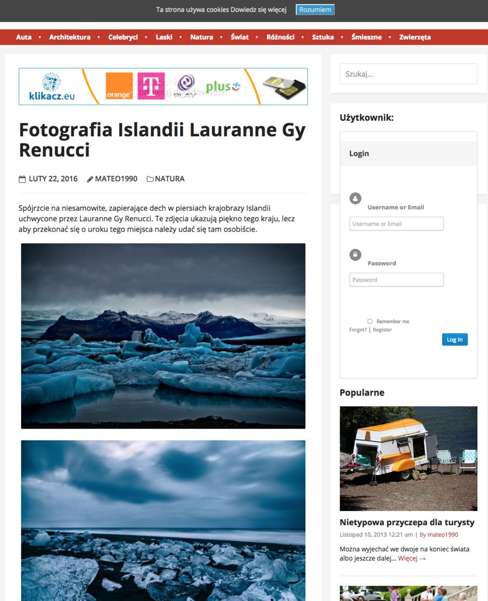 Fotografia Islandii Lauranne Gy Renucci