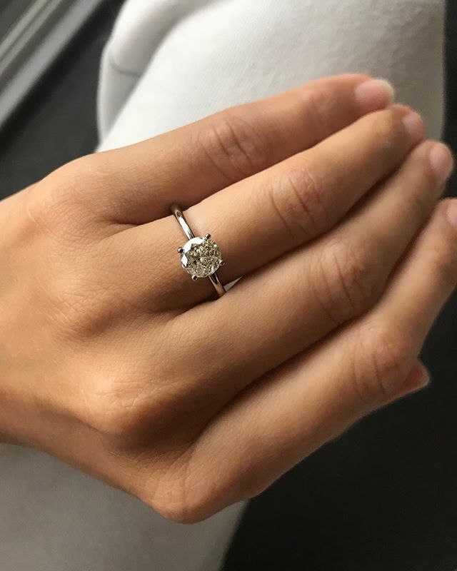 This galaxy diamond engagement ring was custom made for two special souls... more on the ring and their story, after he popped the question ✨