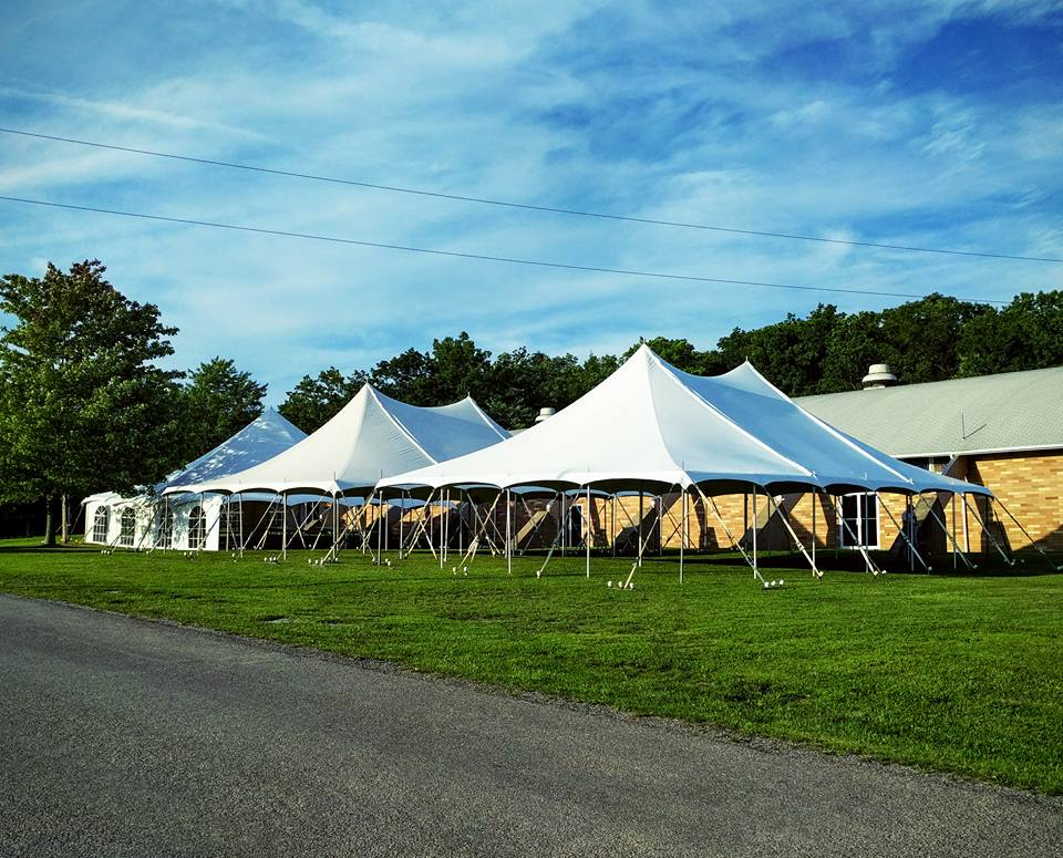 2 - 30' x 45' Large Pole Tents & a 40' x 40' Large Pole Tent