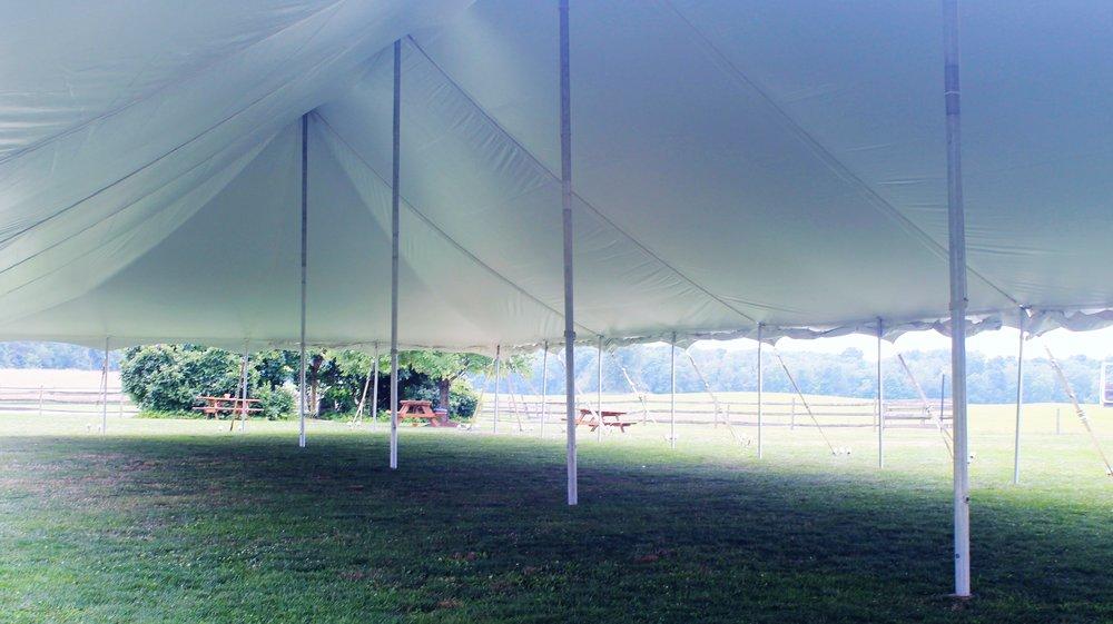 40' x 100' Large Pole Tent