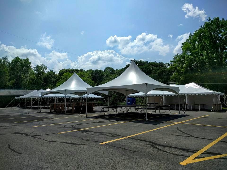 2 - 20' x 20' High Peak Frame Tents