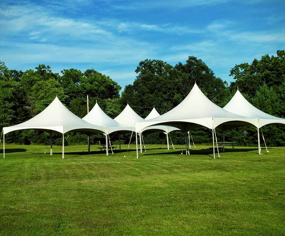 6 - 20' x 20' High Peak Frame Tents