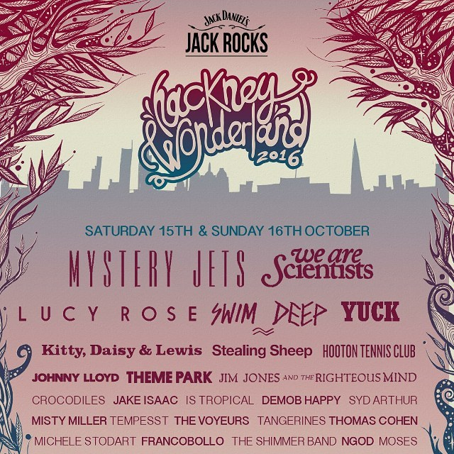 ✨Full line up for Hackney Wonderland✨Gonna be special✨@hackney_wonderland @mysteryjets @wearescientists @jackdaniels_uk #theshimmerband #mysteryjets #wearescientists #london #music #new #newmusic #rock #rocknroll #indie #pop #gig #festival #band #2016 #tour #guitar #bass #drums #synth #uk #bristol