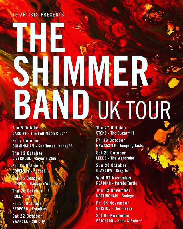 ✨THE SHIMMER BAND✨UK TOUR 2016✨GET YOUR TICKETS NOW!✨#theshimmerband #rock #rocknroll #pop #psychedelic #music #new #newmusic #band #gig #festival #2016 #tour #guitar #bass #drums #synth #radio #bbc #uk #vinyl #london #bristol #nme #seetickets