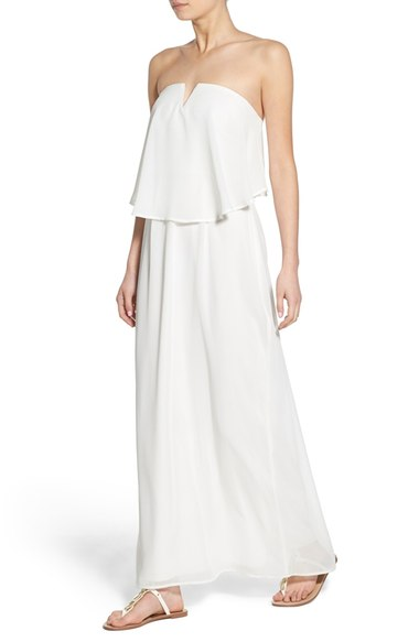 Way-In Strapless Popover Maxi Dress