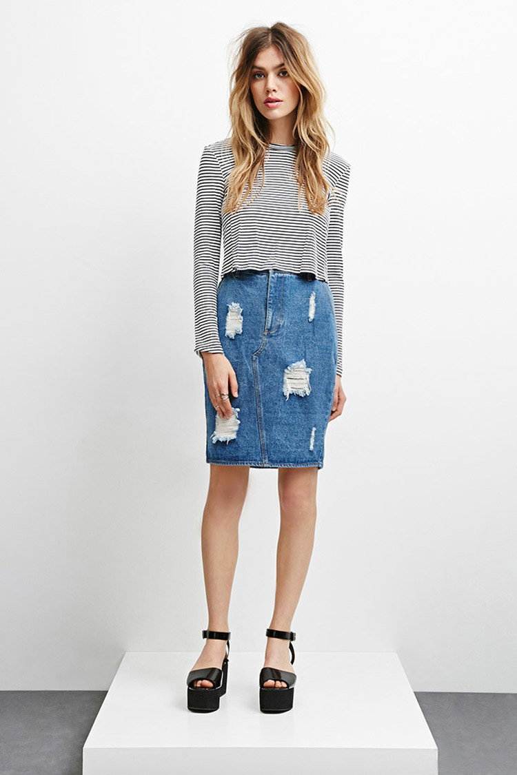 The Fifth Label Not Here Denim Skirt