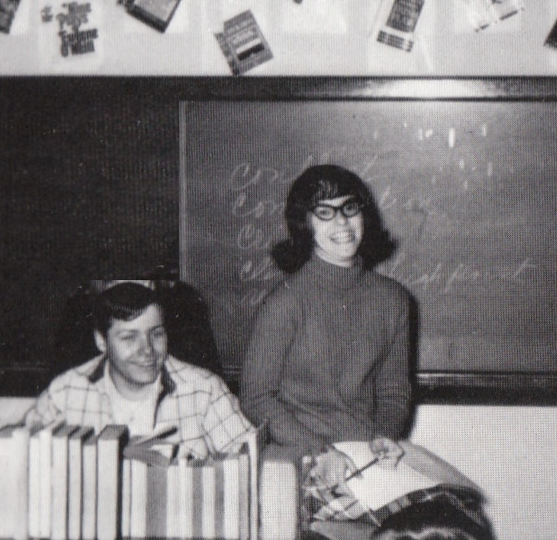 How it all began. High school speech class. Gene was president and I was secretary of our speech club. We both loved to talk and write.