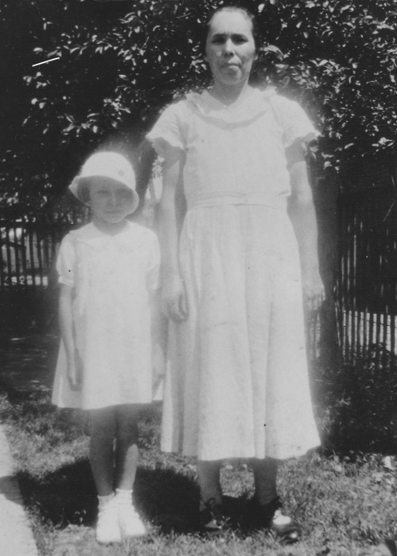 My Grandma Susie with my Mom, May 1933, West Frankfort, Illinois