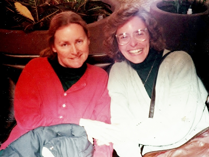 My friend Sally and me, 1990. Sally taught me what it means to get outside of myself so that I can truly care for another human being. She passed away in 1991. My first close friend to die.