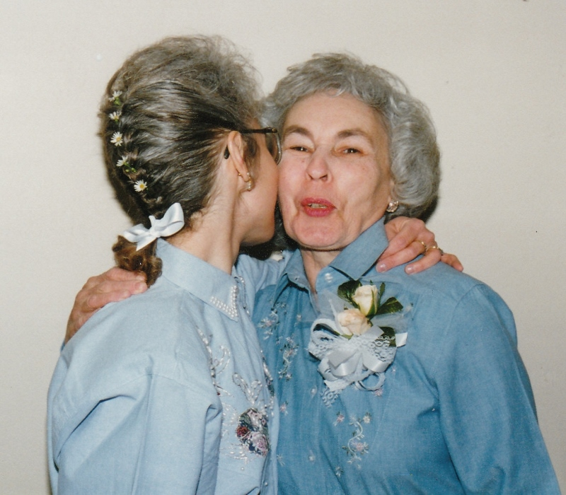 My Mom and me. My wedding day, 1995. (Photo by Steve Hughey)