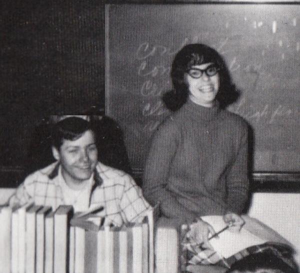 Gene and Laura, high school speech class, 1969