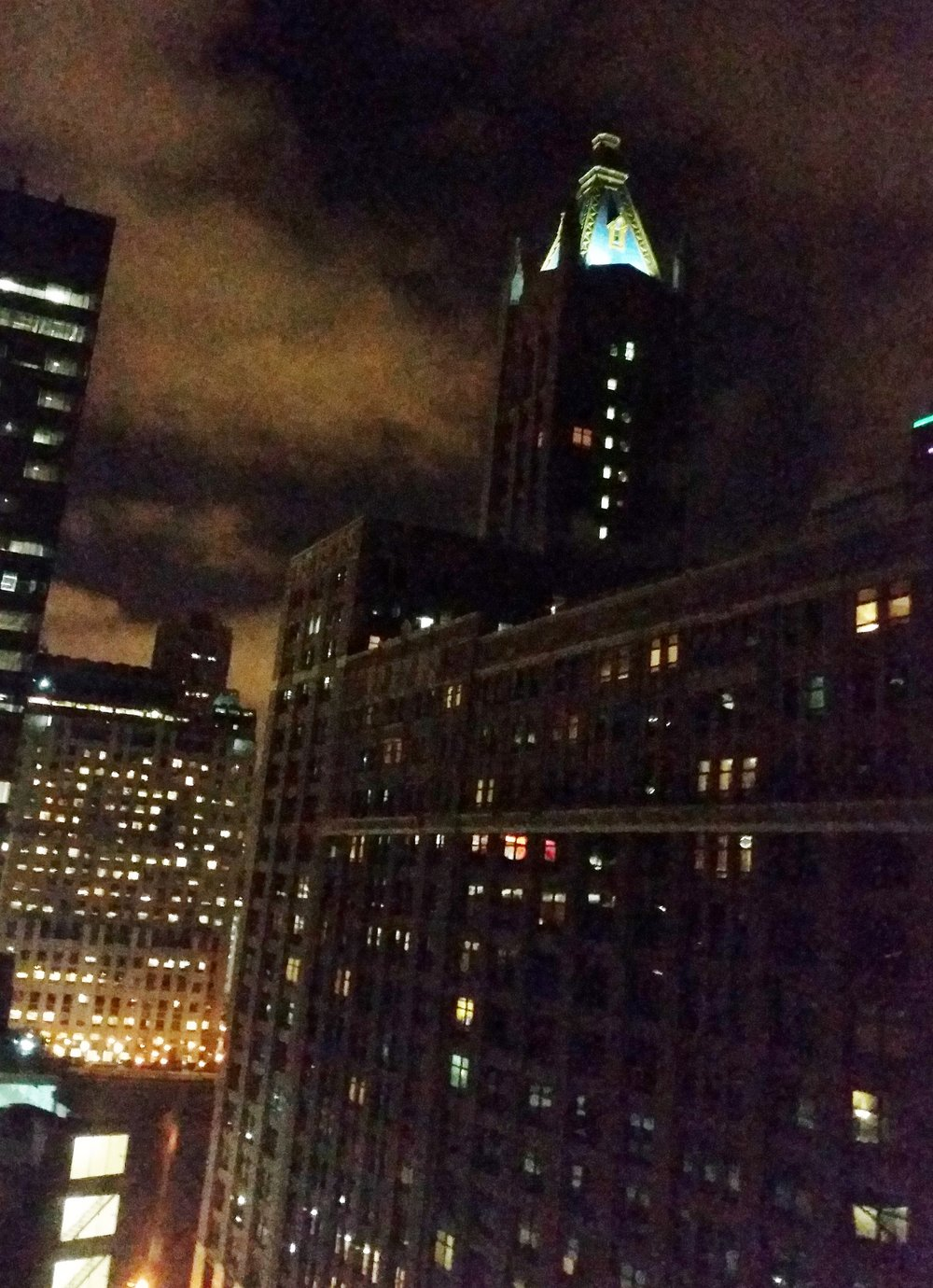 Chicago at night, Photo by Laura Wasson Warfel