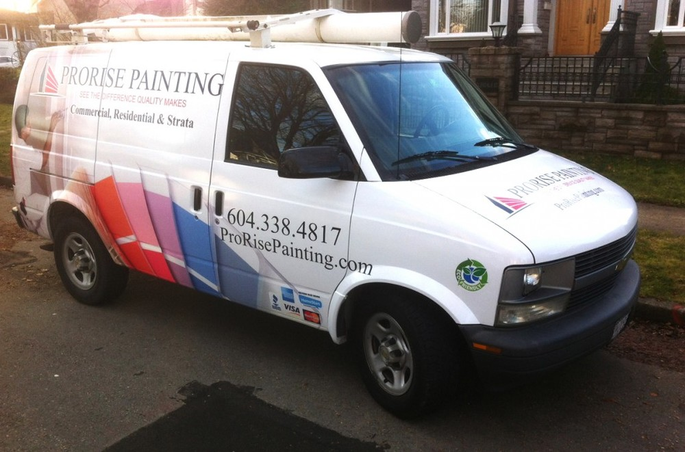 Front Right View of Full Vehicle Wrap