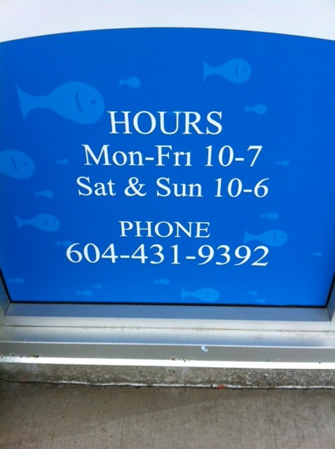 FISH - hours of operation