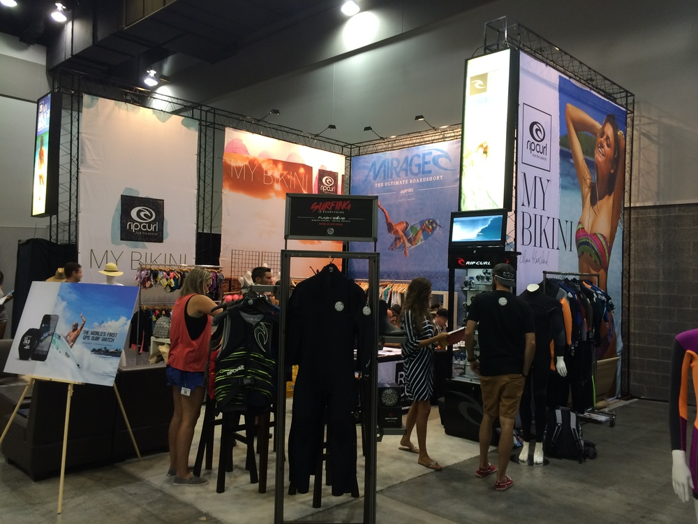 Rip Curl Booth side