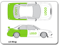 Half Vehicle Wraps