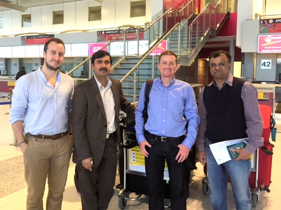 From right. Mr Neil Brierly, Mr Christopher Hill, Mr Muhammad Riaz, Dr Zahid Rafique.