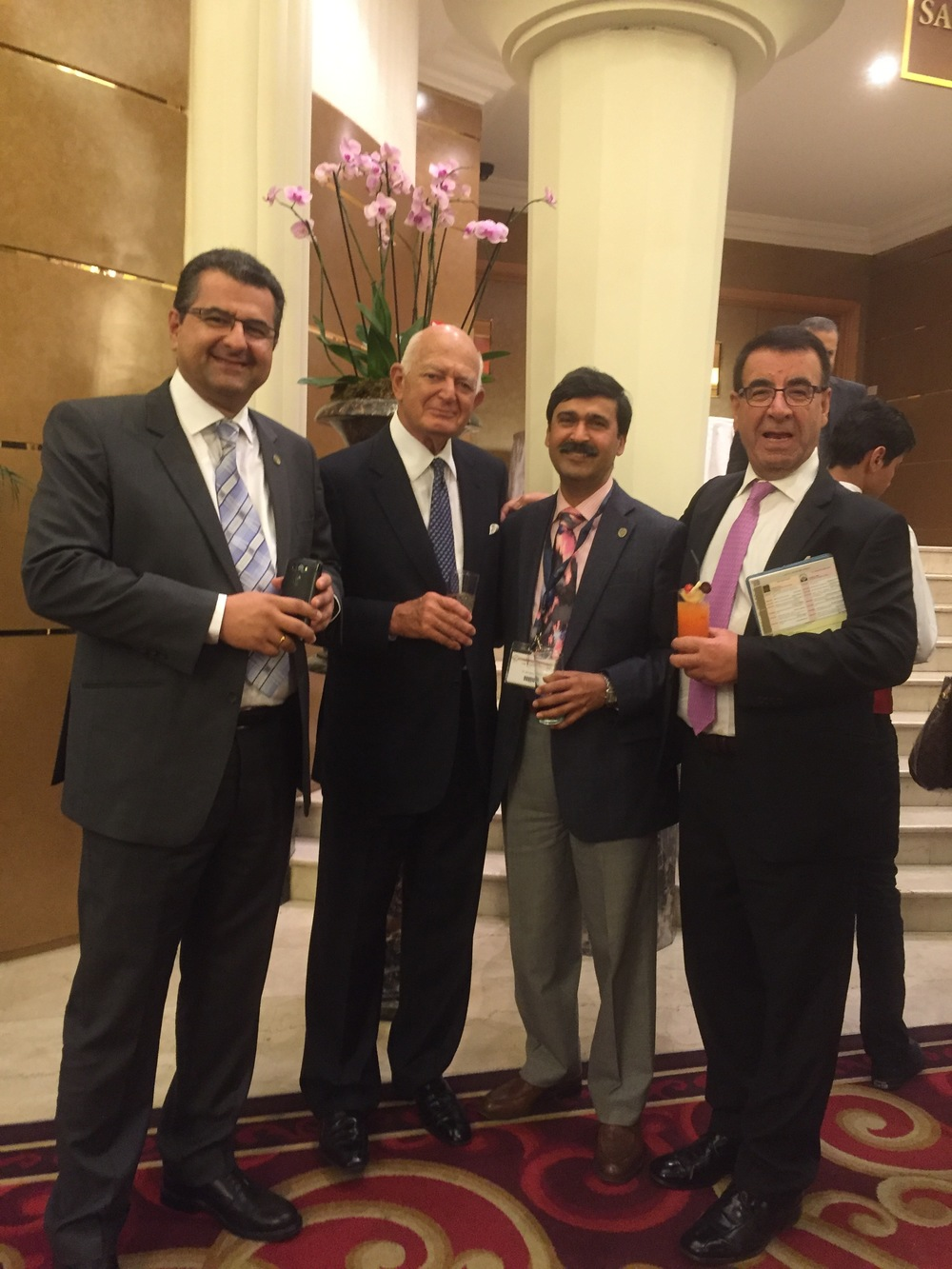 With Dr Sam Hamra (USA) and Mr Bassim Matti (UK)