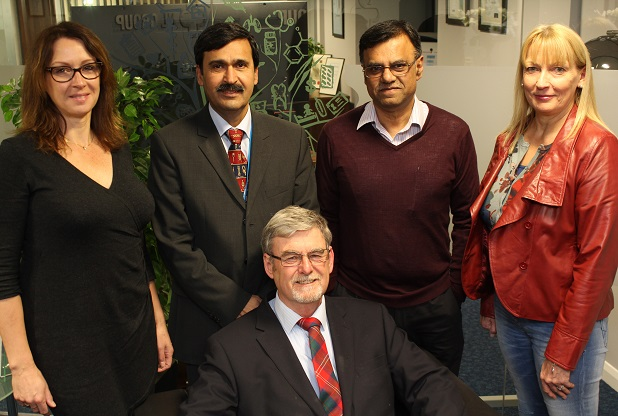 OPSA: From left, Penny McManus, Muhammad Riaz, Zahid Rafique, Annette Middleton and, front, Nick Hart