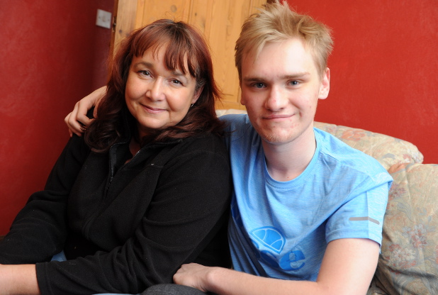 HAPPY: Jack Smith and his mum Beverley