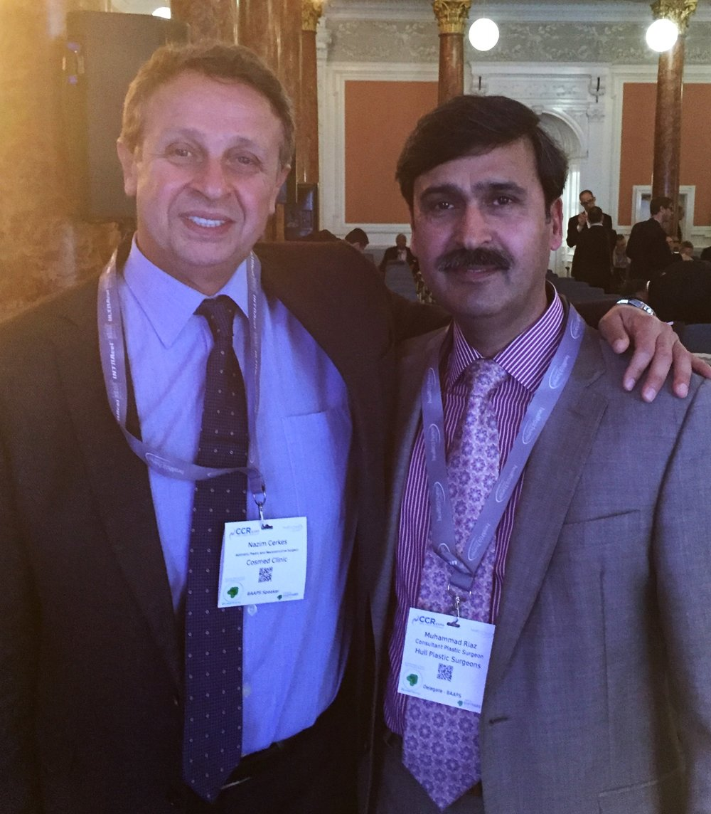 This is Mr Riaz pictured with Professor Cerkes at the conference this year.