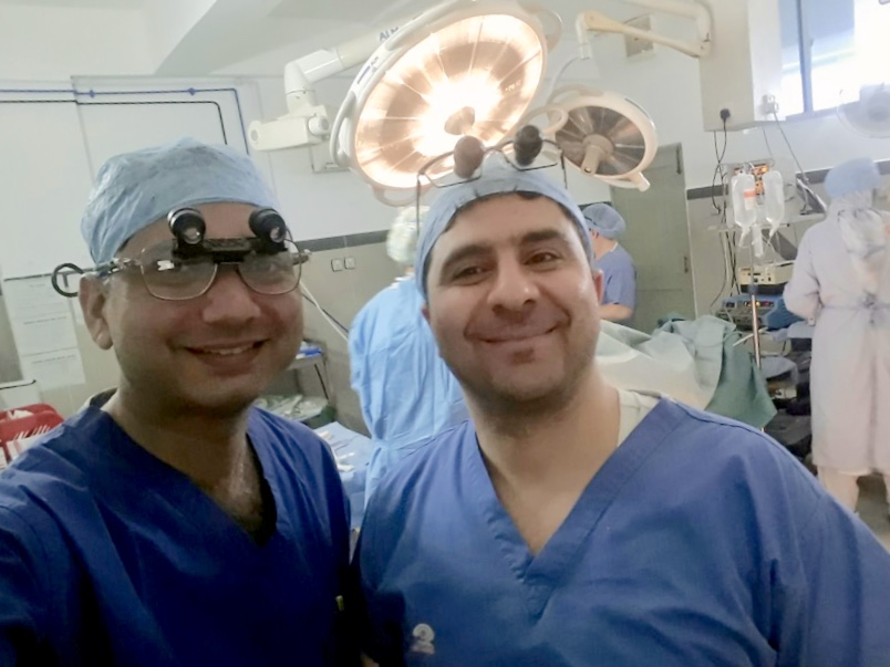 Dr Yasir Iqbal, Consultant Plastic Surgeon in Gujrat with Mr Diaa Othman