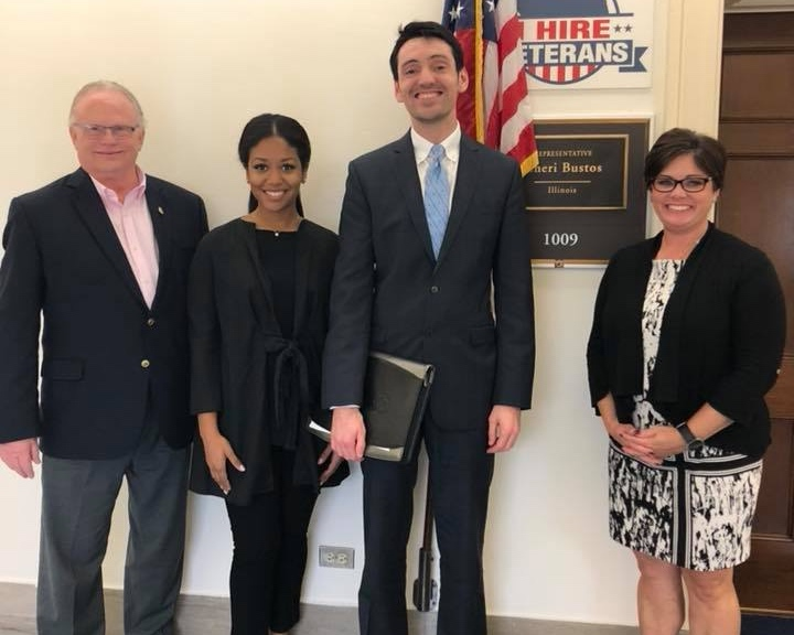 Advocating for breast cancer survivors on Capitol Hill with the Let Her Decide team.