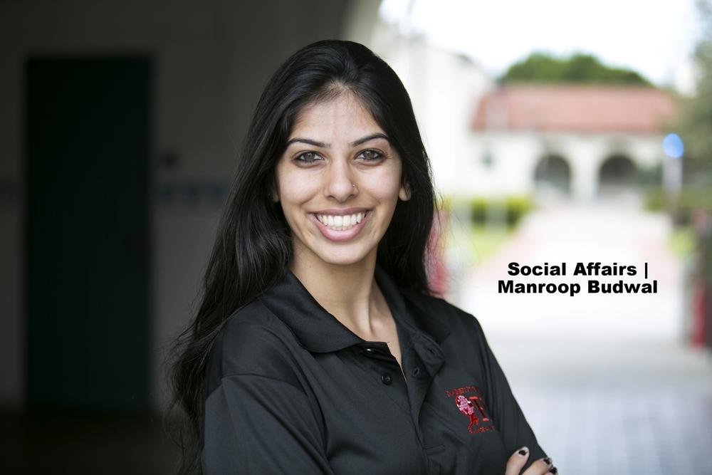VP of Social Affairs -  Manroop Budwal