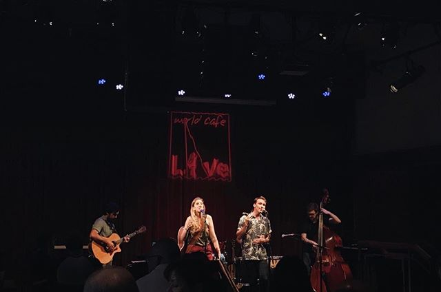 what a dream playing at one of our favorite spots in philly tonight! ✨ thank you all for jamming right along with us! and thanks to @worldcafelive for having us out + @patchworkfools & @heartharbormusic for letting us share the stage with you!