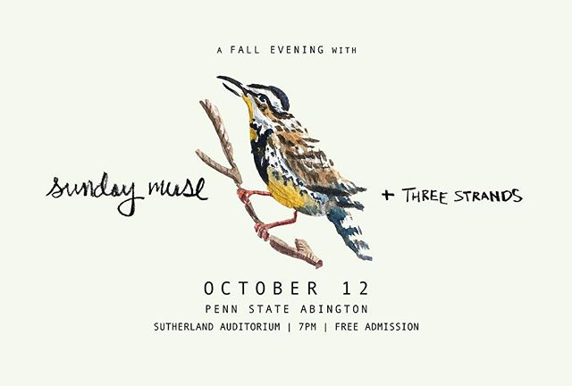 free show THIS thursday, friends! Three Strands + us playing october music and sharing an autumn evening together! // 🍂 doors 6:30 | music 7