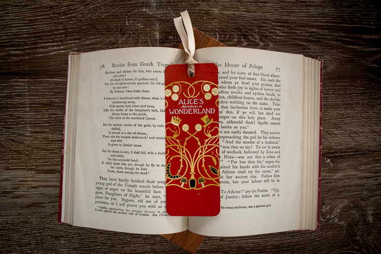Petites boutiques en ligne de papeterie Alice+bookmark+front