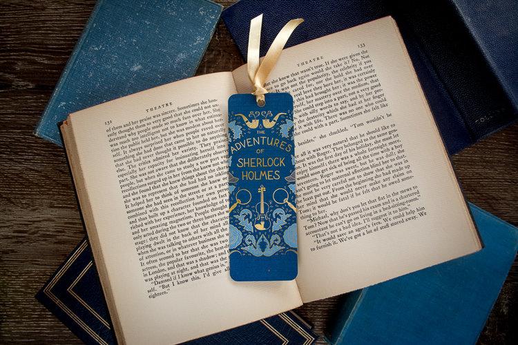 Petites boutiques en ligne de papeterie Sherlock+bookmark+front