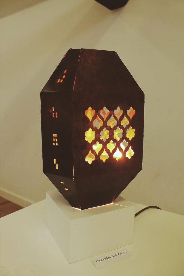 Moroccan Inspired Lantern - Copper. Photographed by Jacqueline Almeida.