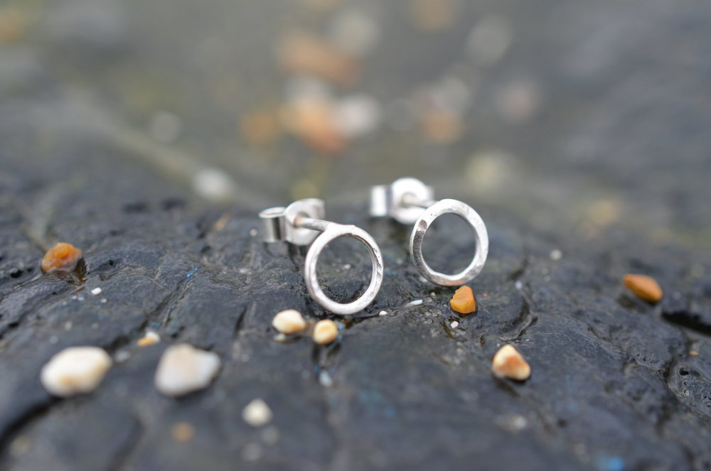 Silver Circle Studs £10