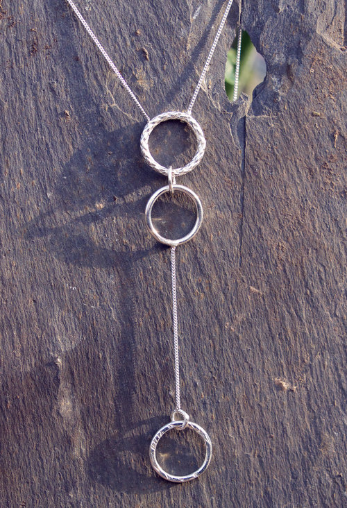 Silver Long 3 Circle Pendant £65 (Sold)