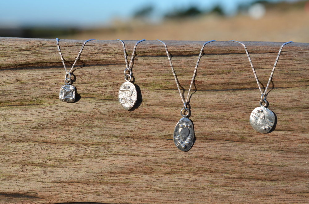 Fused Silver Pendants £40 Each.
