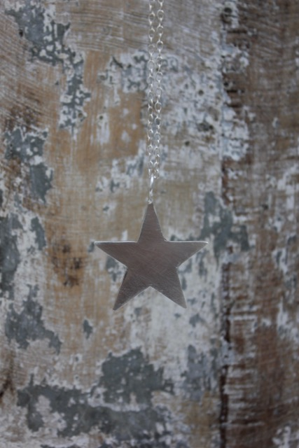 Long Silver Star Pendant £40 (Sold)