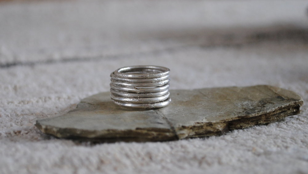 Silver Textured Rings £15 Each.