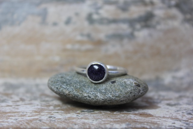 Silver and Blue Night Sky Stone Ring £50 (Sold)