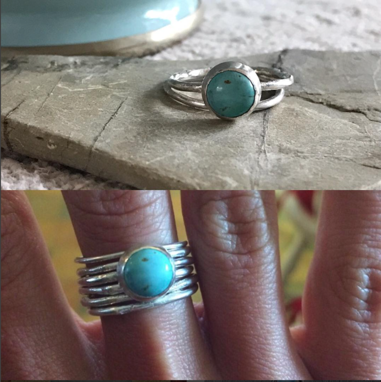 Silver and Turquoise Ring £50 (sold)