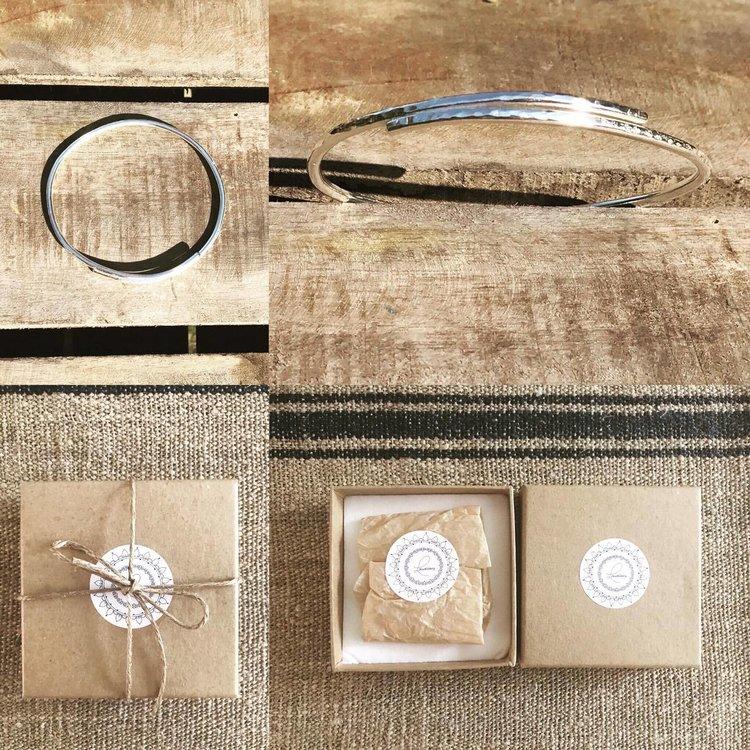 Silver Adjustable Hammered Bangle £50
