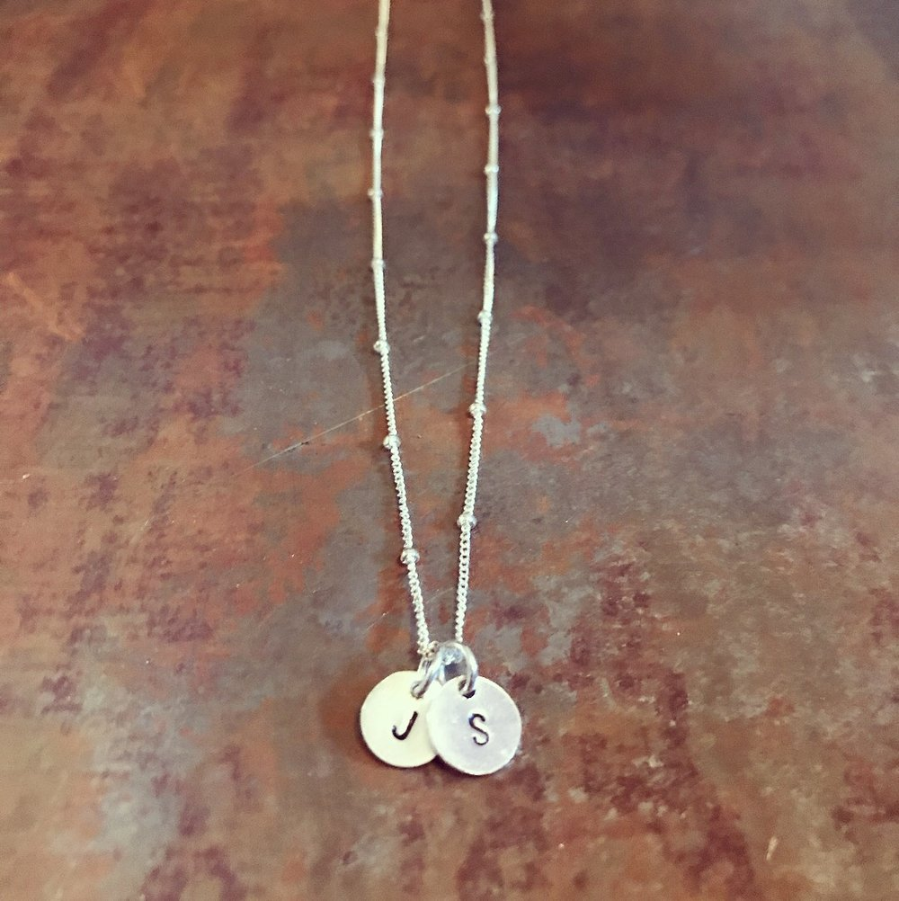 Silver Initial Charm Pendant on Constellation Chain £35 (Sold)