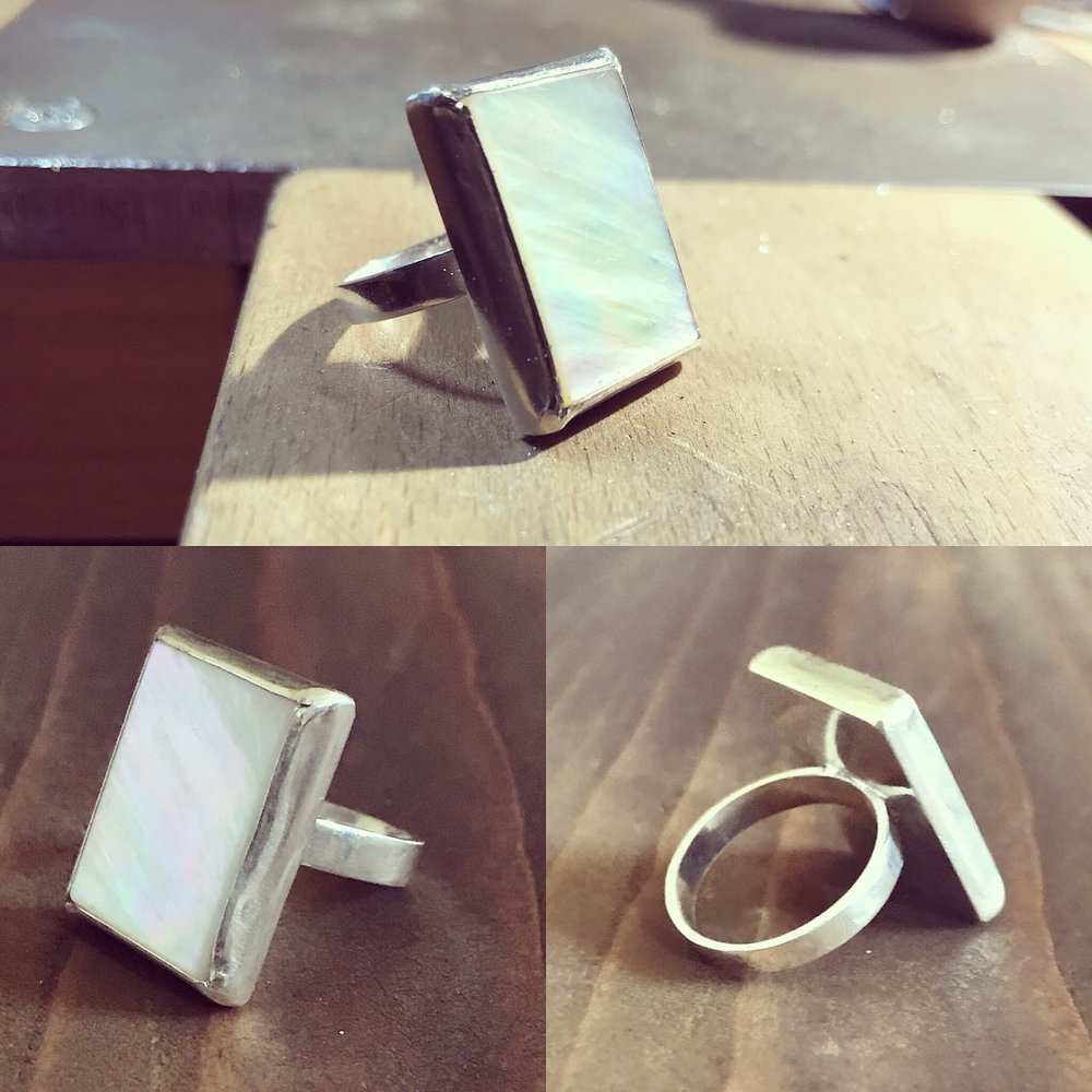 Silver and Mother of Pearl Ring £75+ (Sold)