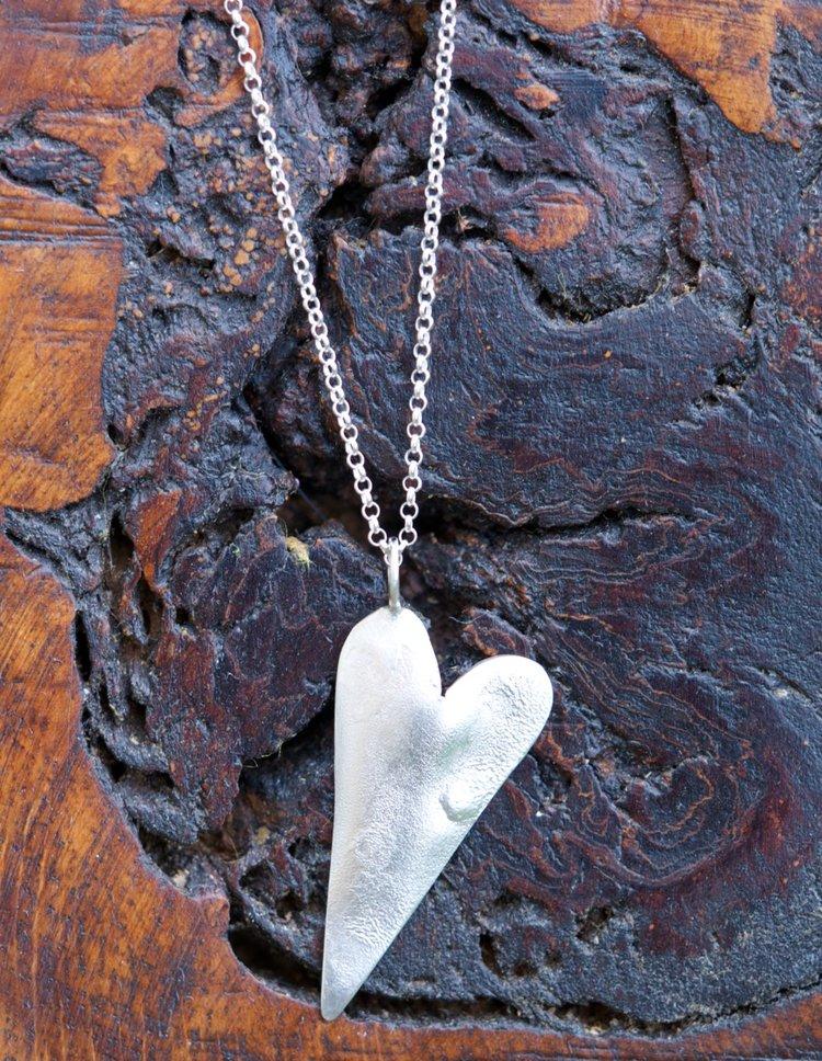 Textured Heart Pendant £45-50.