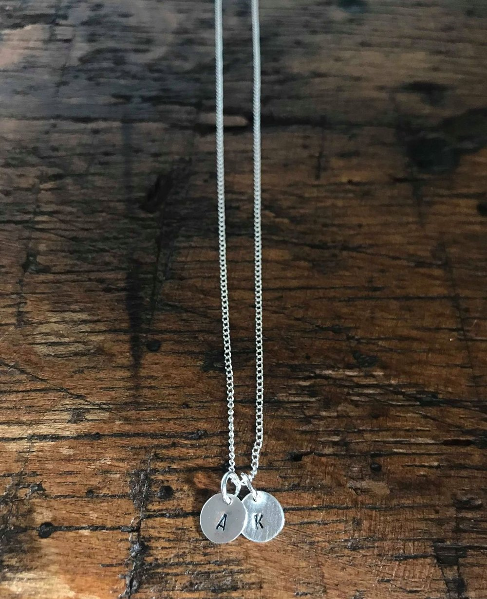 Inital Necklace on Curb Chain £25.