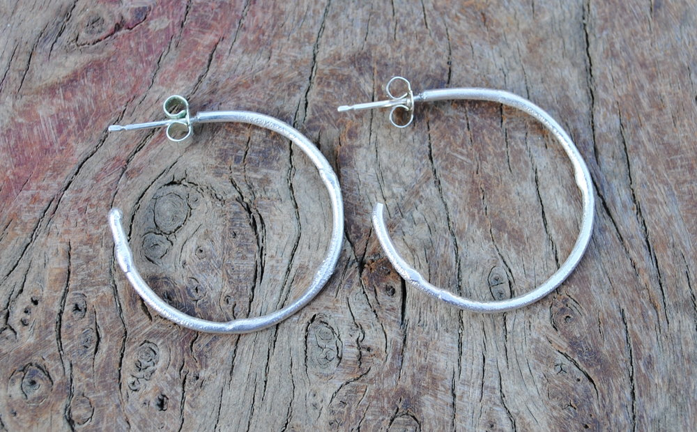 Reticulated Circle Hoop Earrings Larger £30.