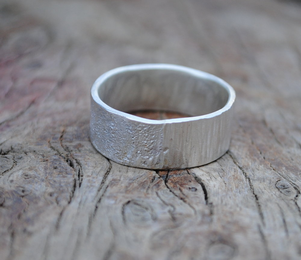 Reticulated Sheet Silver Ring £50.