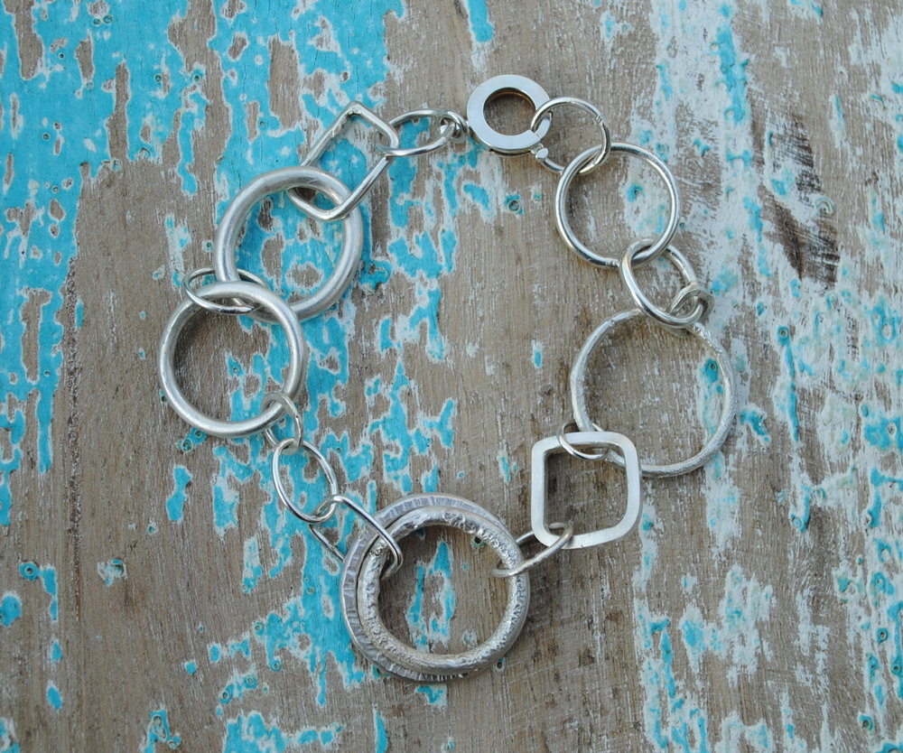 Square and Circle Bracelet Small £200.