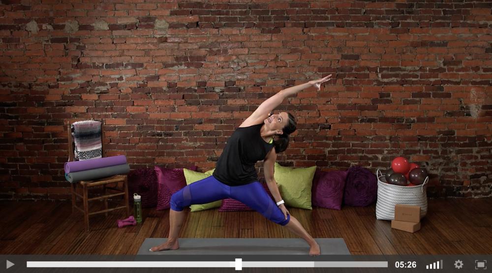 Yoga Fitness Video Reverse Warrior